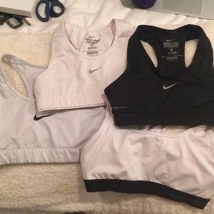 4 Nike sports bras